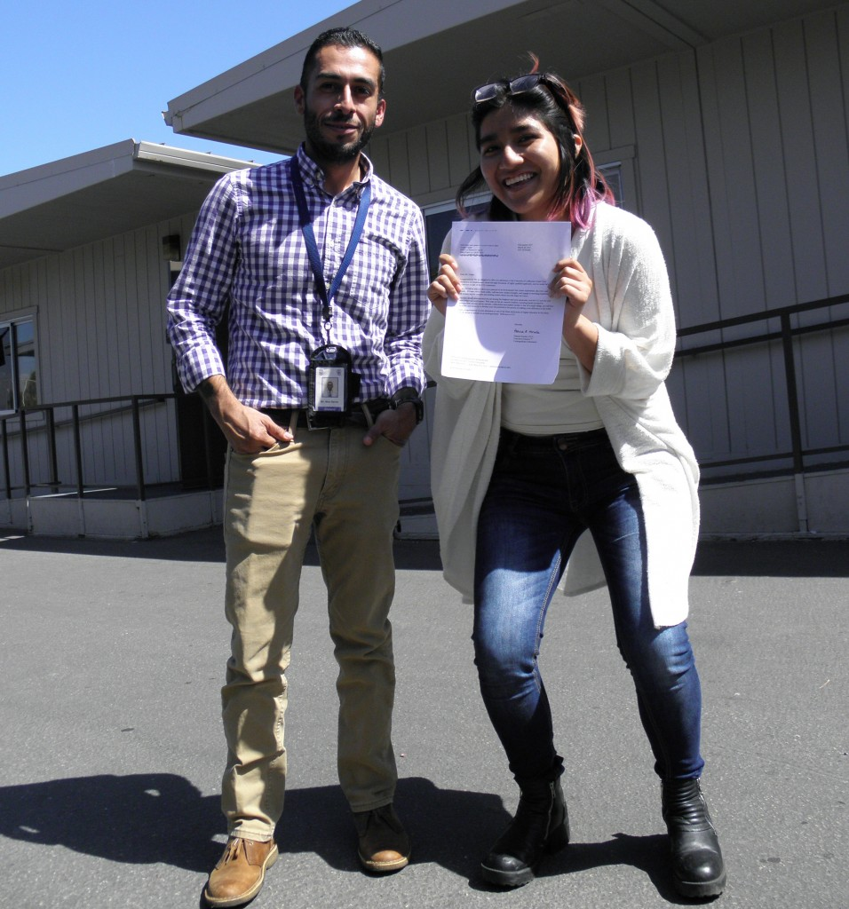(Ariana and I posing with her University of California, Irvine acceptance letter-a proud and exciting moment for both of us!)