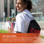 Getting There: Are California Community Colleges Maximizing Student Completion of Transfer-Level Math and English?