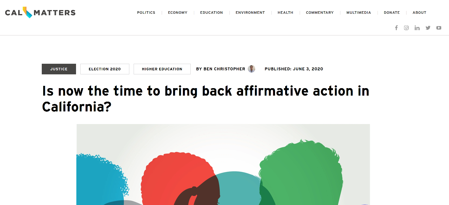 Is Now the time to bring back affirmative action?