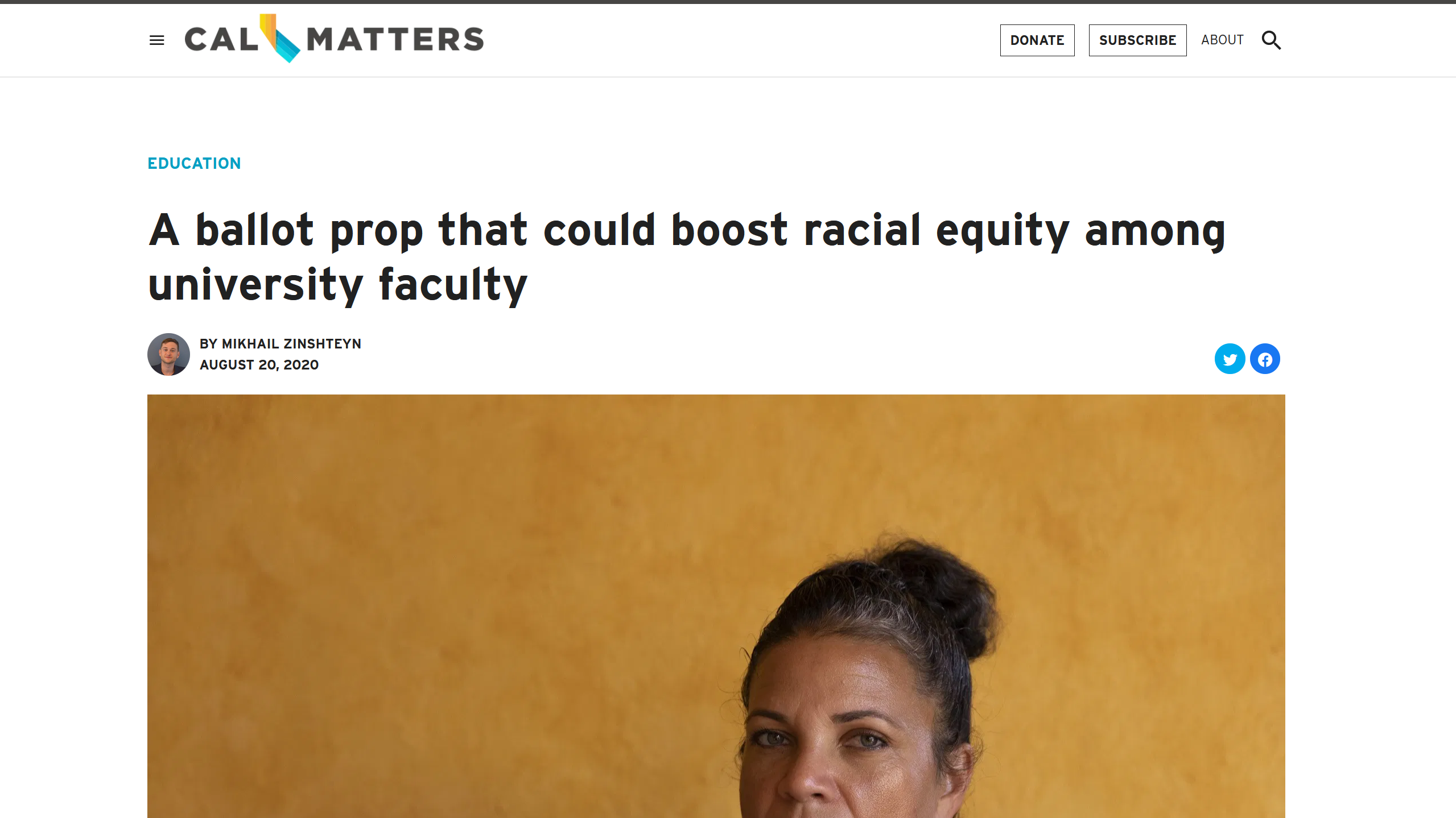 CalMatters: A ballot prop that could boost racial equity among university faculty